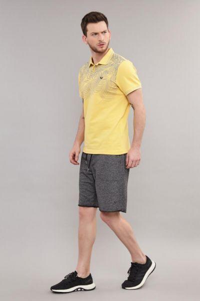 BİLCEE - Bilcee Sarı Polo Yaka Erkek Antrenman T-Shirt DS-2100 (1)