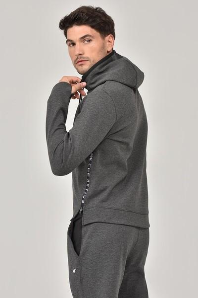 BİLCEE - Bilcee Antrasit Kapüşonlu Erkek Sweatshirt FW-1222 (1)