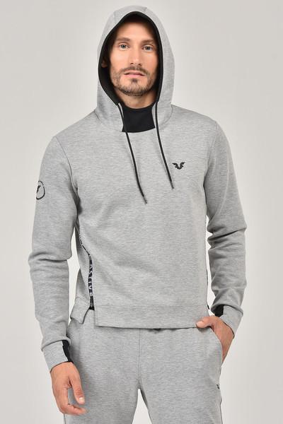 BİLCEE - Bilcee Gri Kapüşonlu Erkek Sweatshirt FW-1222