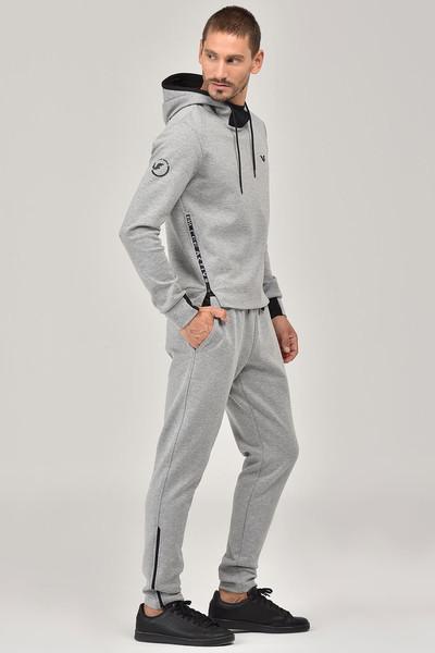 BİLCEE - Bilcee Gri Kapüşonlu Erkek Sweatshirt FW-1222 (1)