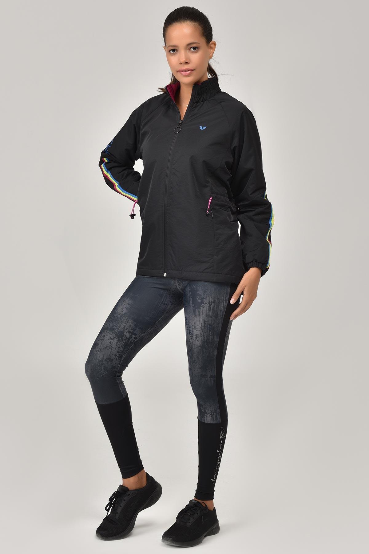 Bilcee Siyah Kadın Mont FW- 1354 BİLCEE
