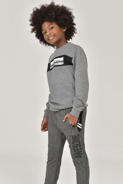 BİLCEE - Bilcee K.Gri Erkek Çocuk Sweatshirt FW-1430 (1)