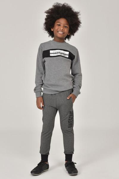 BİLCEE - Bilcee K.Gri Erkek Çocuk Sweatshirt FW-1430