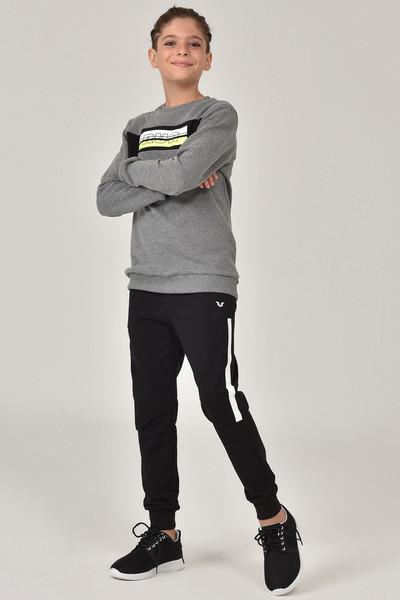 BİLCEE - Bilcee Gri Erkek Çocuk Sweatshirt FW-1430