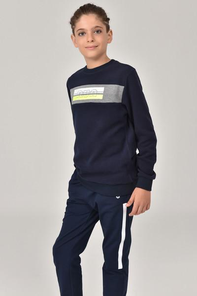 BİLCEE - Bilcee Lacivert Erkek Çocuk Sweatshirt FW-1430