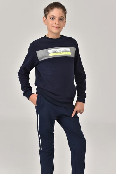 BİLCEE - Bilcee Lacivert Erkek Çocuk Sweatshirt FW-1430 (1)
