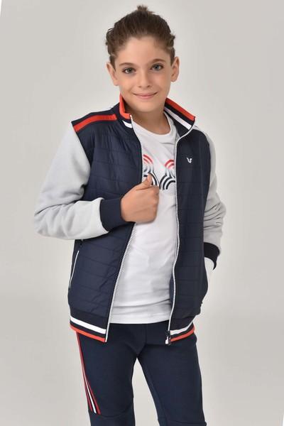 BİLCEE - Bilcee Lacivert Erkek Çocuk Eşofman Üstü FW-1434