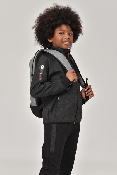 BİLCEE - Bilcee Siyah Erkek Çocuk Eşofman Takımı FW-1438 (1)