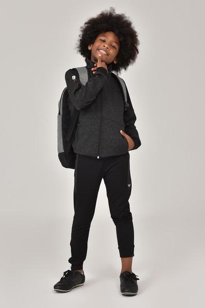 BİLCEE - Bilcee Siyah Erkek Çocuk Eşofman Takımı FW-1438