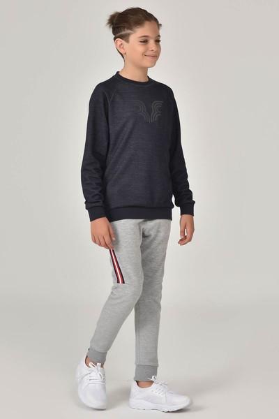 BİLCEE - Bilcee Siyah Unisex Sweatshirt FW- 1440 (1)