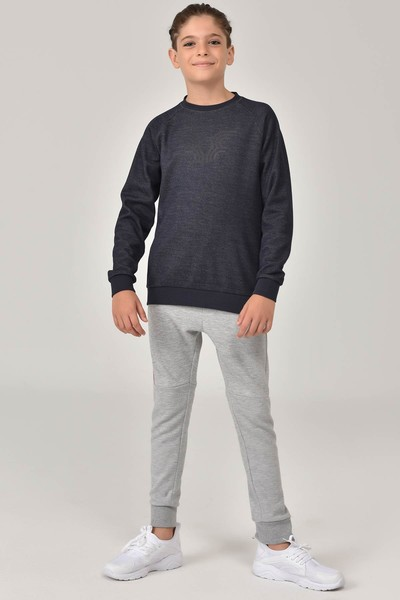BİLCEE - Bilcee Siyah Unisex Sweatshirt FW- 1440