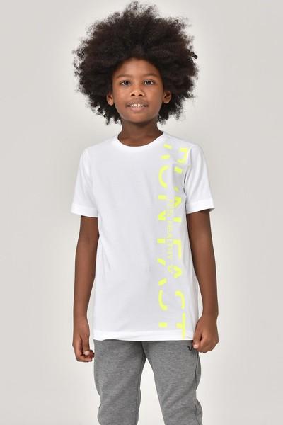 BİLCEE - Bilcee Beyaz Unisex Çocuk T-Shirt FW-1473