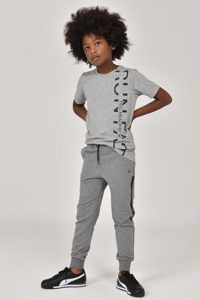BİLCEE - Bilcee Gri Unisex Çocuk T-Shirt FW-1473 (1)