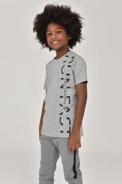 BİLCEE - Bilcee Gri Unisex Çocuk T-Shirt FW-1473