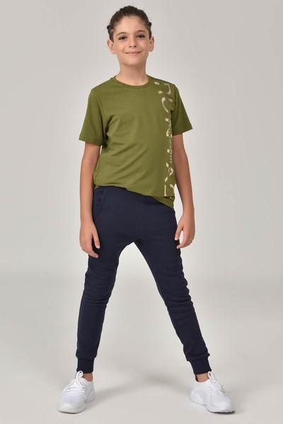 BİLCEE - Bilcee Yeşil Unisex Çocuk T-Shirt FW-1473 (1)