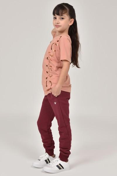 BİLCEE - Bilcee Pembe Unisex Çocuk T-Shirt FW-1473 (1)