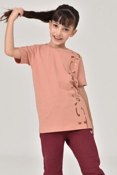 BİLCEE - Bilcee Pembe Unisex Çocuk T-Shirt FW-1473