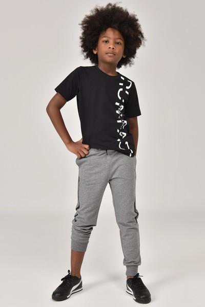BİLCEE - Bilcee Siyah Unisex Çocuk T-Shirt FW-1473 (1)