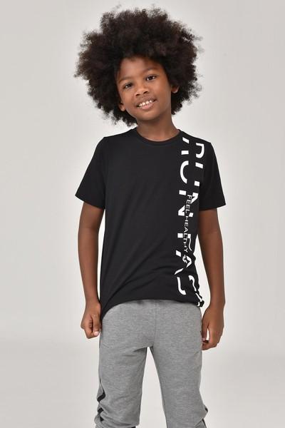 BİLCEE - Bilcee Siyah Unisex Çocuk T-Shirt FW-1473
