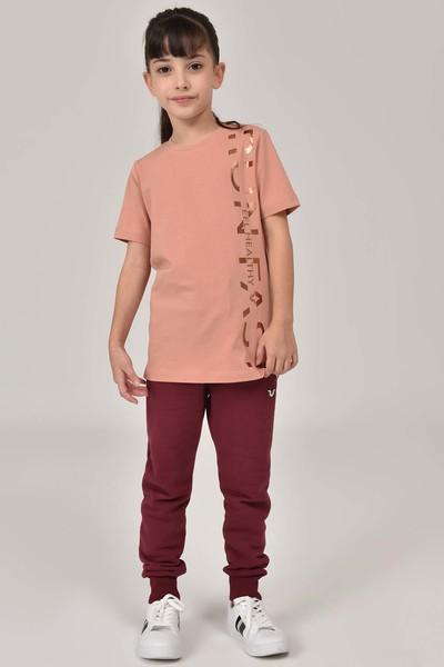 BİLCEE - Bilcee Bordo Unisex Çocuk Eşofman Altı FW- 1475 (1)