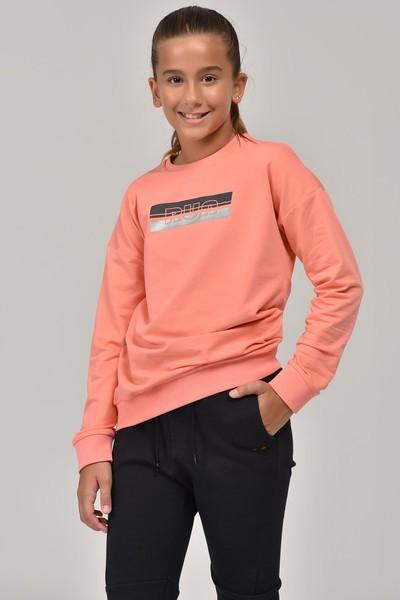BİLCEE - Bilcee Pembe Unisex Çocuk Sweatshirt FW-1482
