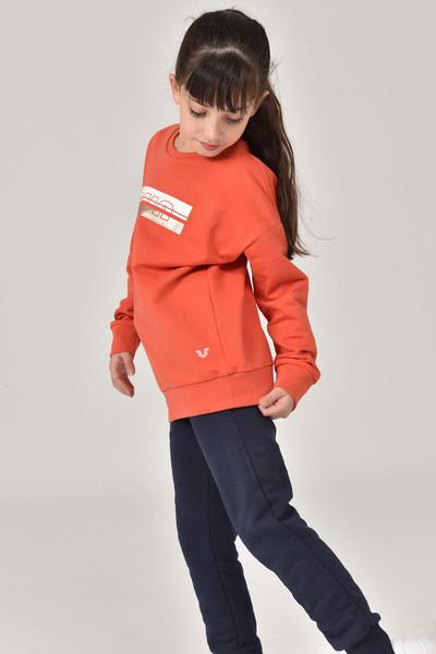 BİLCEE - Bilcee Kırmızı Unisex Çocuk Sweatshirt FW-1482 (1)