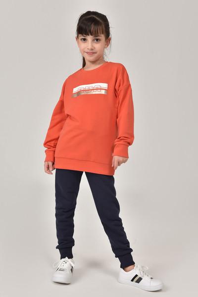 BİLCEE - Bilcee Kırmızı Unisex Çocuk Sweatshirt FW-1482