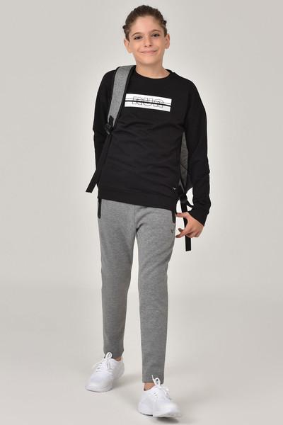 BİLCEE - Bilcee Siyah Unisex Çocuk Sweatshirt FW-1482 (1)