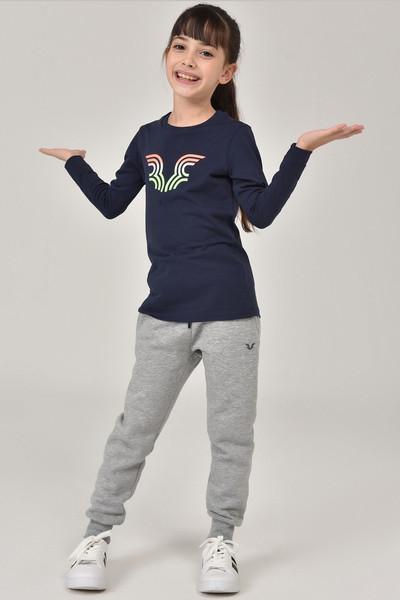 BİLCEE - Bilcee Lacivert Unisex Çocuk T-Shirt FW-1484 (1)