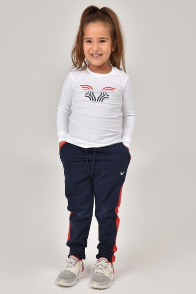BİLCEE - Bilcee Beyaz Unisex Çocuk T-Shirt FW-1484