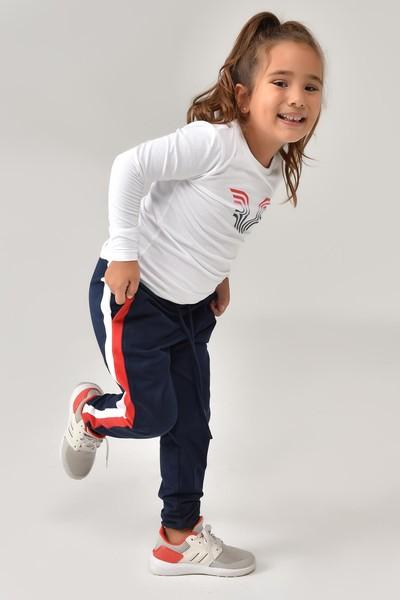 BİLCEE - Bilcee Beyaz Unisex Çocuk T-Shirt FW-1484 (1)