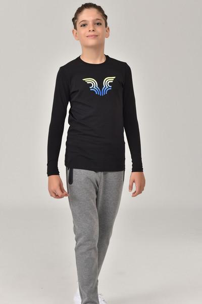 BİLCEE - Bilcee Siyah Unisex Çocuk T-Shirt FW-1484