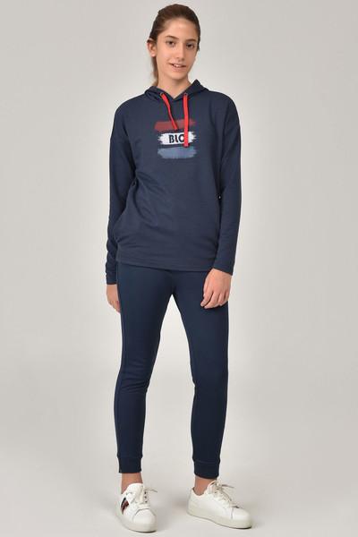 BİLCEE - Bilcee Lacivert Kız Çocuk Sweatshirt FW-1485