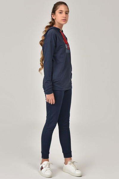 BİLCEE - Bilcee Lacivert Kız Çocuk Sweatshirt FW-1485 (1)