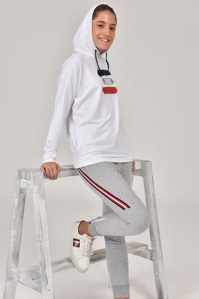 BİLCEE - Bilcee Beyaz Kız Çocuk Sweatshirt FW-1485 (1)