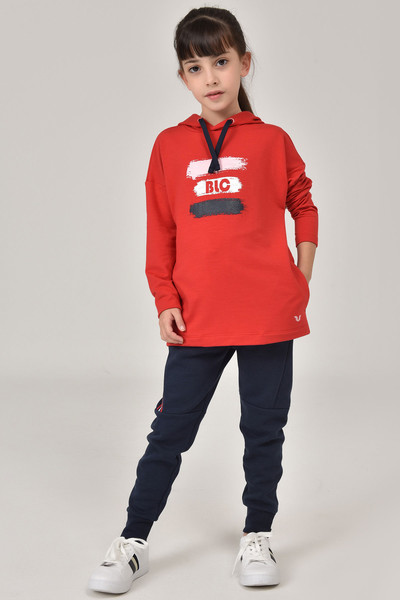 BİLCEE - Bilcee Kırmızı Kız Çocuk Sweatshirt FW - 1485