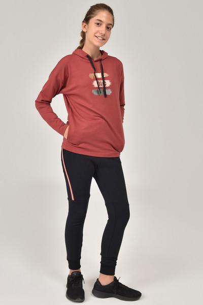 BİLCEE - Bilcee Kahverengi Kız Çocuk Sweatshirt FW-1485 (1)