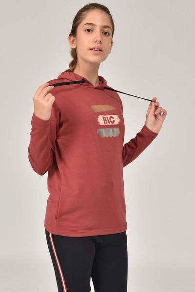 BİLCEE - Bilcee Kahverengi Kız Çocuk Sweatshirt FW-1485