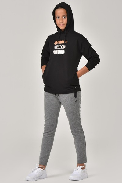 BİLCEE - Bilcee Siyah Kız Çocuk Sweatshirt FW-1485 (1)