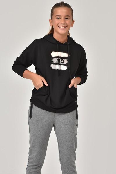 BİLCEE - Bilcee Siyah Kız Çocuk Sweatshirt FW-1485