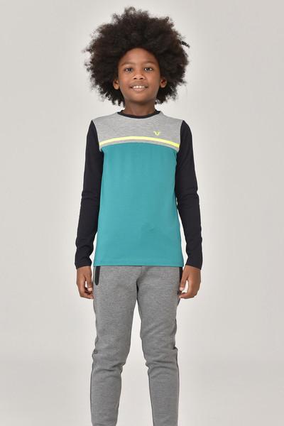 BİLCEE - Bilcee Unisex Uzun Kol Çocuk T-Shirt FW-1487