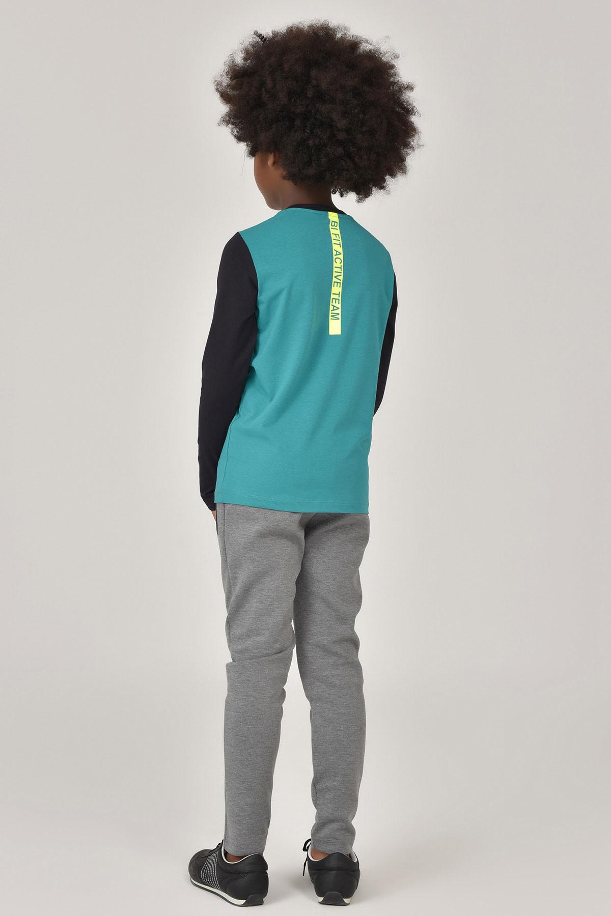 Bilcee Unisex Uzun Kol Çocuk T-Shirt FW-1487 BİLCEE