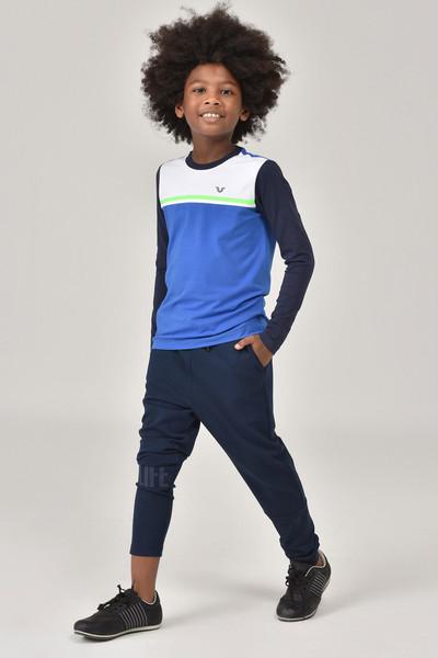 BİLCEE - Bilcee Mavi Unisex Uzun Kol Çocuk T-Shirt FW-1487 (1)