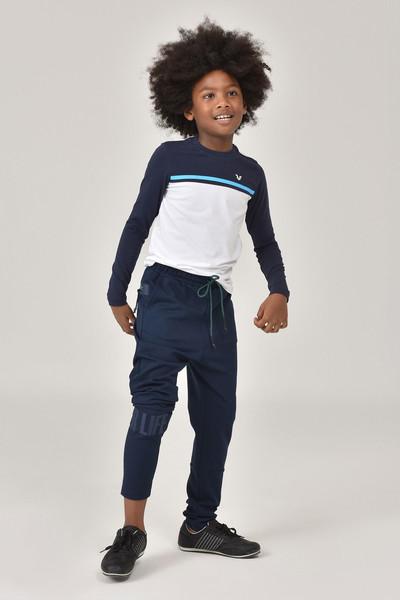 BİLCEE - Bilcee Beyaz Unisex Uzun Kol Çocuk T-Shirt FW-1487 (1)