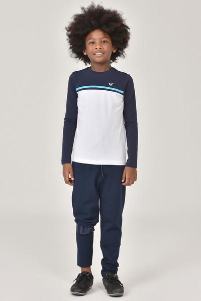 BİLCEE - Bilcee Beyaz Unisex Uzun Kol Çocuk T-Shirt FW-1487