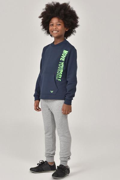 BİLCEE - Bilcee Lacivert Unisex Çocuk Sweatshirt FW -1490 (1)