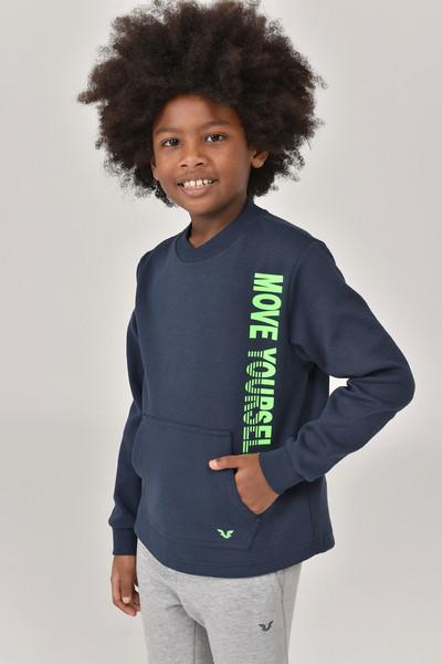 BİLCEE - Bilcee Lacivert Unisex Çocuk Sweatshirt FW -1490