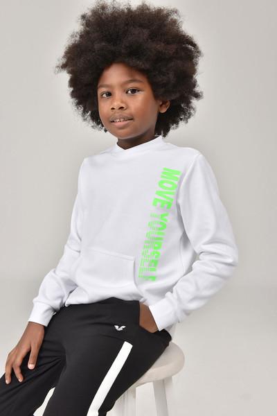 BİLCEE - Bilcee Beyaz Unisex Çocuk Sweatshirt FW -1490 (1)