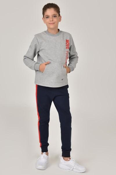 BİLCEE - Bilcee Gri Unisex Çocuk Sweatshirt FW -1490