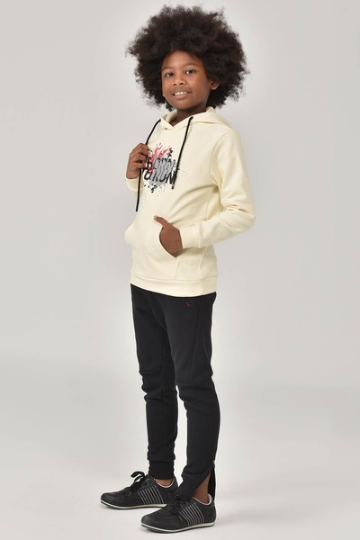 BİLCEE - Bilcee Krem Unisex Çocuk Sweatshirt FW-1491 (1)